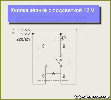 Электросхемы_электросоединения_кнопка