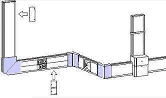 Схема установки кабель-каналов