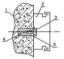 Крепление коробов к несущей конструкции 1 - несущая конструкция; 2 – короб; 3 – шуруп; 4 – пробка; 5 - шайба