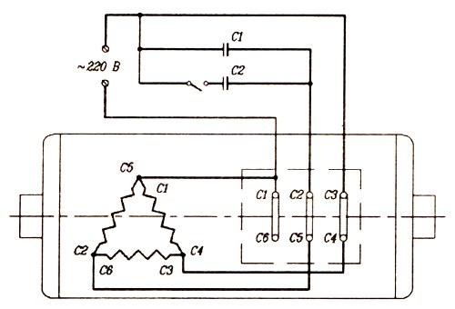 Схема включения трехфазного