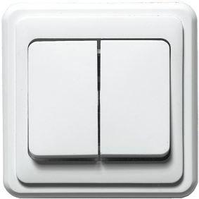 Двухклавишный накладной выключатель