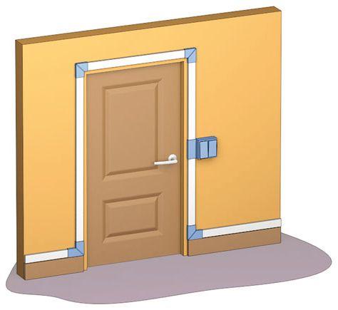 Пример прокладки кабеля вокруг дверной коробки