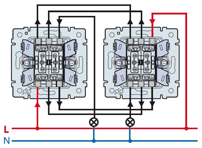 Двухклавишный переключатель на 2 направления Legrand Quteo IP44 782301 Белый