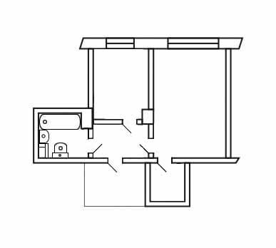 План квартиры. Электропроводка