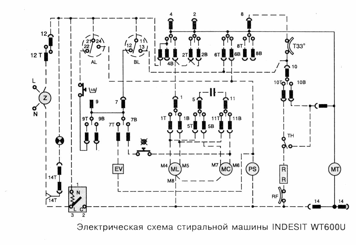 indesit wisa 81 схема модуля