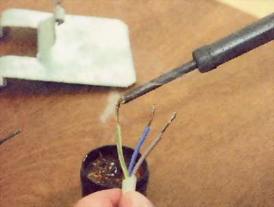 Облуживание проводников перед их пайкой