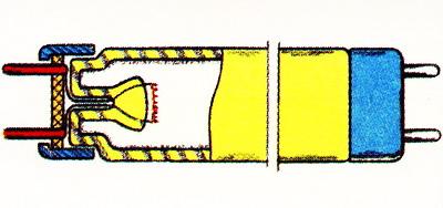 Устройство трубчатой люминесцентной лампы низкого давления