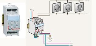 Схема включения дистанционно управляемого диммера