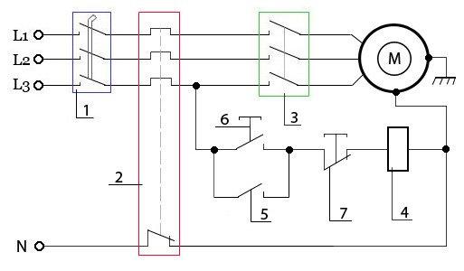 магнитного пускателя (в