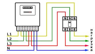 схема включения электрического счетчика